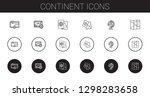 continent icons set. collection ... | Shutterstock .eps vector #1298283658