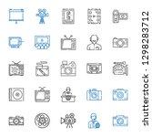 multimedia icons set.... | Shutterstock .eps vector #1298283712