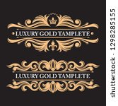 templates vintage elements on a ... | Shutterstock .eps vector #1298285155