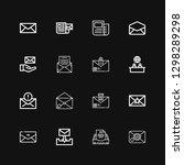 editable 16 newsletter icons... | Shutterstock .eps vector #1298289298