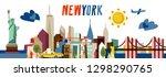 new york flat vector... | Shutterstock .eps vector #1298290765