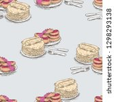 vector background of sketches...   Shutterstock .eps vector #1298293138