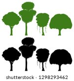 set of silhouette tree... | Shutterstock .eps vector #1298293462
