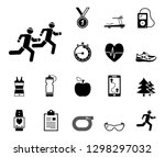 jogging and running   iconset ... | Shutterstock .eps vector #1298297032