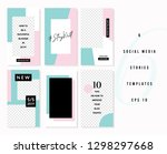 a set of six editable vertical... | Shutterstock .eps vector #1298297668