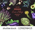 eco shop farm product. vector... | Shutterstock .eps vector #1298298415