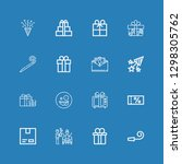 editable 16 surprise icons for... | Shutterstock .eps vector #1298305762