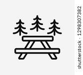 picnic concept line icon....