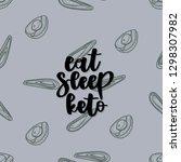 keto diet hand drawn vector... | Shutterstock .eps vector #1298307982