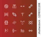 editable 16 dumbbell icons for... | Shutterstock .eps vector #1298311108
