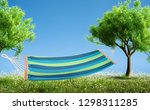 relaxing on hammock in backyard ... | Shutterstock . vector #1298311285