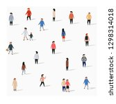 large group of walking people.... | Shutterstock .eps vector #1298314018