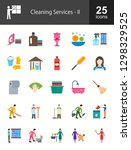 cleaning services flat icons | Shutterstock .eps vector #1298329525
