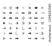 arrows vector collection with... | Shutterstock .eps vector #1298332585