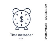 linear time metaphor icon from... | Shutterstock .eps vector #1298338225