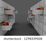 3d file cabinet . 3d rendered... | Shutterstock . vector #1298339008