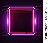 square pink neon banner | Shutterstock .eps vector #1298348818