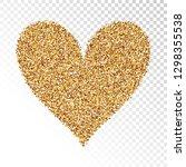 gold hart shape. vector... | Shutterstock .eps vector #1298355538
