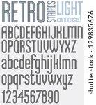 parallel  stripes retro style... | Shutterstock .eps vector #129835676