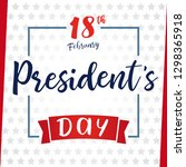 lettering presidents day... | Shutterstock .eps vector #1298365918