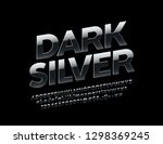 vector rotated dark silver font.... | Shutterstock .eps vector #1298369245