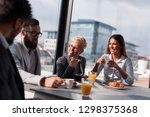 group of business people having ... | Shutterstock . vector #1298375368