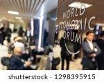 davos  switzerland   jan 24 ... | Shutterstock . vector #1298395915