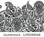 seamless black and white... | Shutterstock .eps vector #1298398468