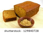 Ginger Cake On Wooden Board...