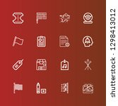editable 16 mark icons for web...