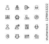 editable 16 member icons for...   Shutterstock .eps vector #1298413222