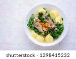 ivy gourd soup with soft white... | Shutterstock . vector #1298415232