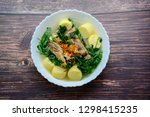 ivy gourd soup with soft white... | Shutterstock . vector #1298415235