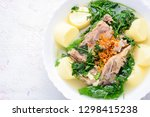ivy gourd soup with soft white... | Shutterstock . vector #1298415238