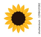 sunflower icon isolated on... | Shutterstock .eps vector #1298419282