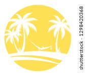 summer icon with palm trees | Shutterstock .eps vector #1298420368