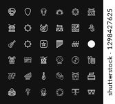 editable 36 song icons for web... | Shutterstock .eps vector #1298427625