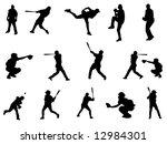 baseball silhouette | Shutterstock . vector #12984301