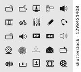 media and multimedia icons set  | Shutterstock .eps vector #1298431408