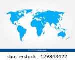 detailed world map vector   the ... | Shutterstock .eps vector #129843422