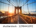 Brooklyn bridge in new york...
