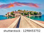 touristic face of montenegro  ... | Shutterstock . vector #1298453752