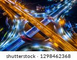aerial view of traffic in... | Shutterstock . vector #1298462368