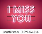 i miss you valentine's day... | Shutterstock .eps vector #1298463718