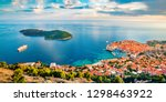 most amazing views of dubrovnik ... | Shutterstock . vector #1298463922