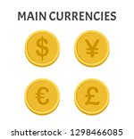 main currencies coins symbols... | Shutterstock .eps vector #1298466085
