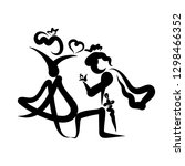 prince in love gives ring to...   Shutterstock . vector #1298466352