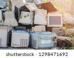 damaged monitors are discarded  ... | Shutterstock . vector #1298471692