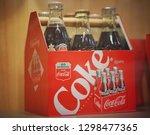 january  2019   wooden box coca ... | Shutterstock . vector #1298477365