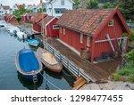 swedish fishing village of... | Shutterstock . vector #1298477455